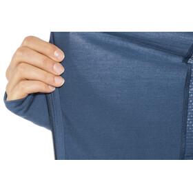 Icebreaker Fluid Zone LS Zip Shirt Women prussian blue/midnight navy